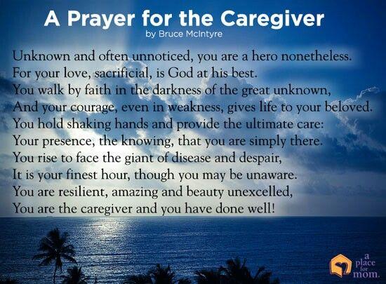 A Prayer for the Caregiver