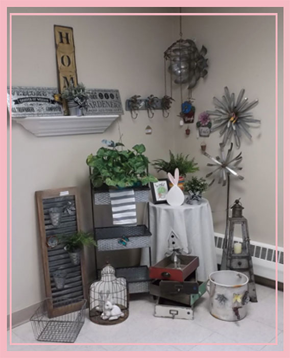 Garden Items Wind Chimes Metal Florals Wire Baskets Signage & More