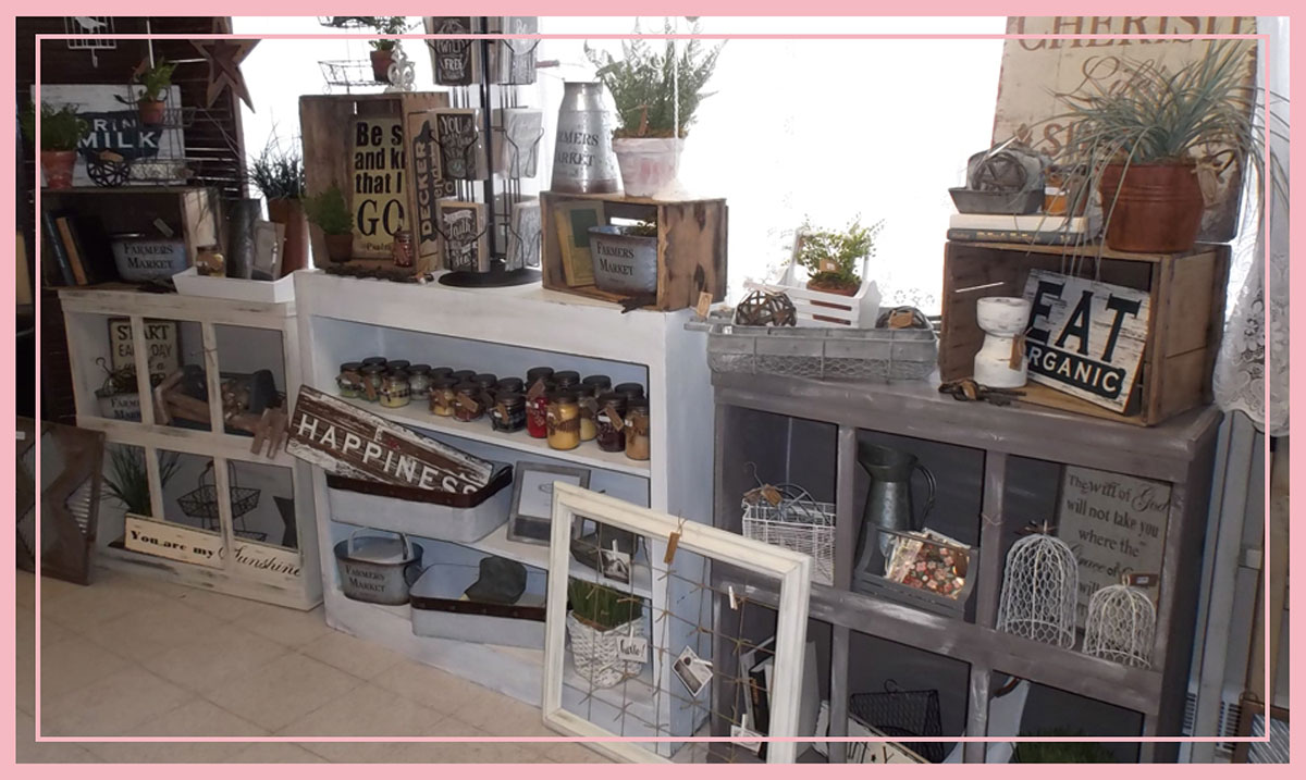 Home Decor, Candles, Ladders, Metal Cages Floral Greens, Signage & Accessories