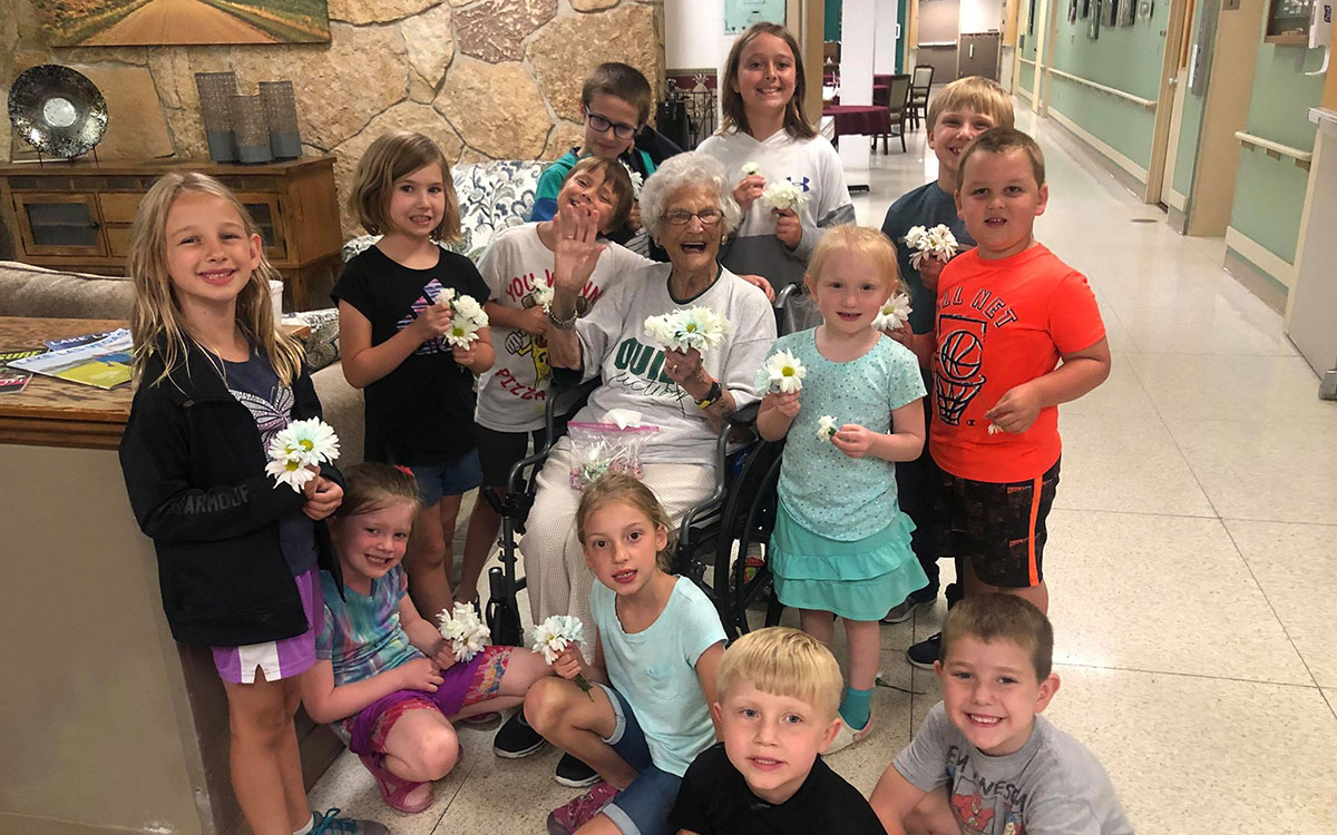 'Grandma Jeannie' Brings Greetings to Kids